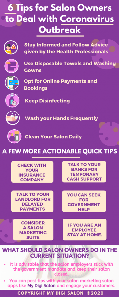 Tips for Salon Owners to deal with Coronavirus - My Digi Salon