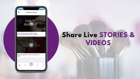 live videos and stories
