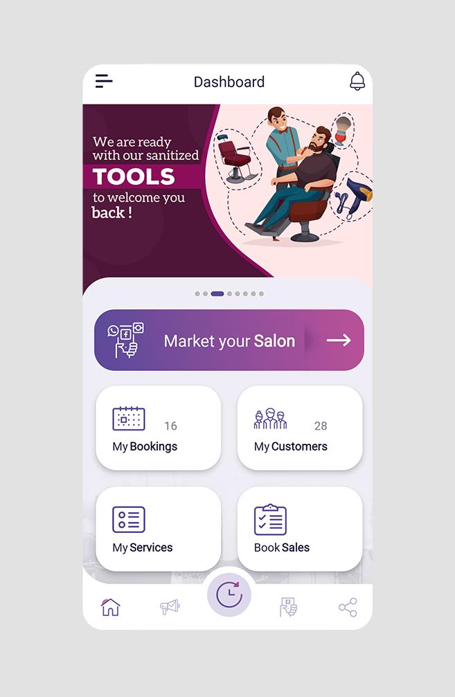 Market Your Salon - Salon Marketing App